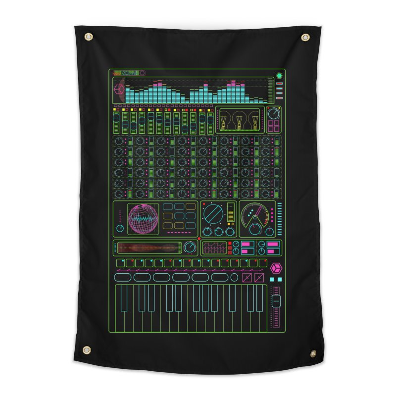 Synth machine Home Tapestry by 0_cult's Artist Shop