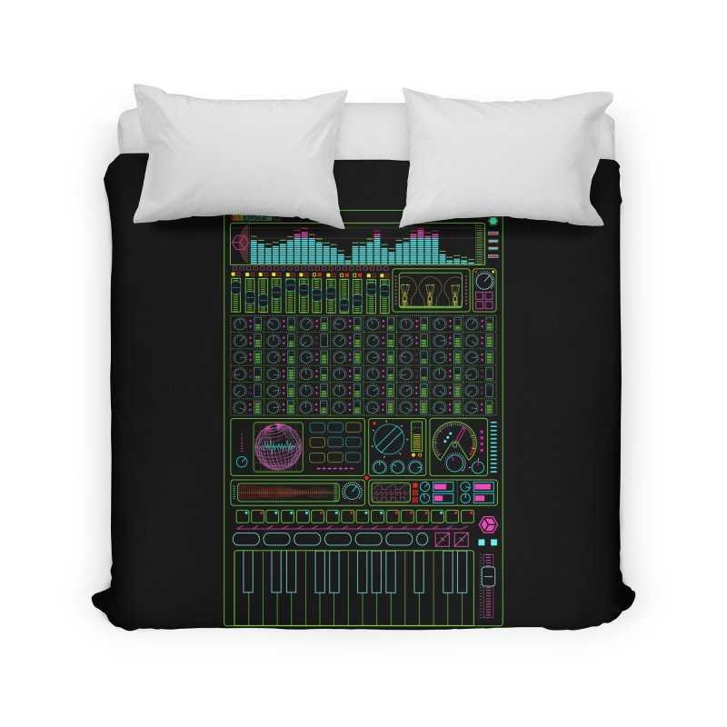 Synth machine Home Duvet by 0_cult's Artist Shop