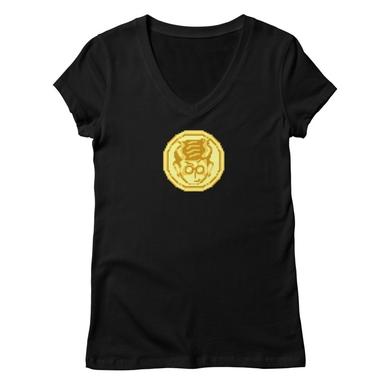 Mr A Coin 1 Women's V-Neck by 0 Ideas Studios