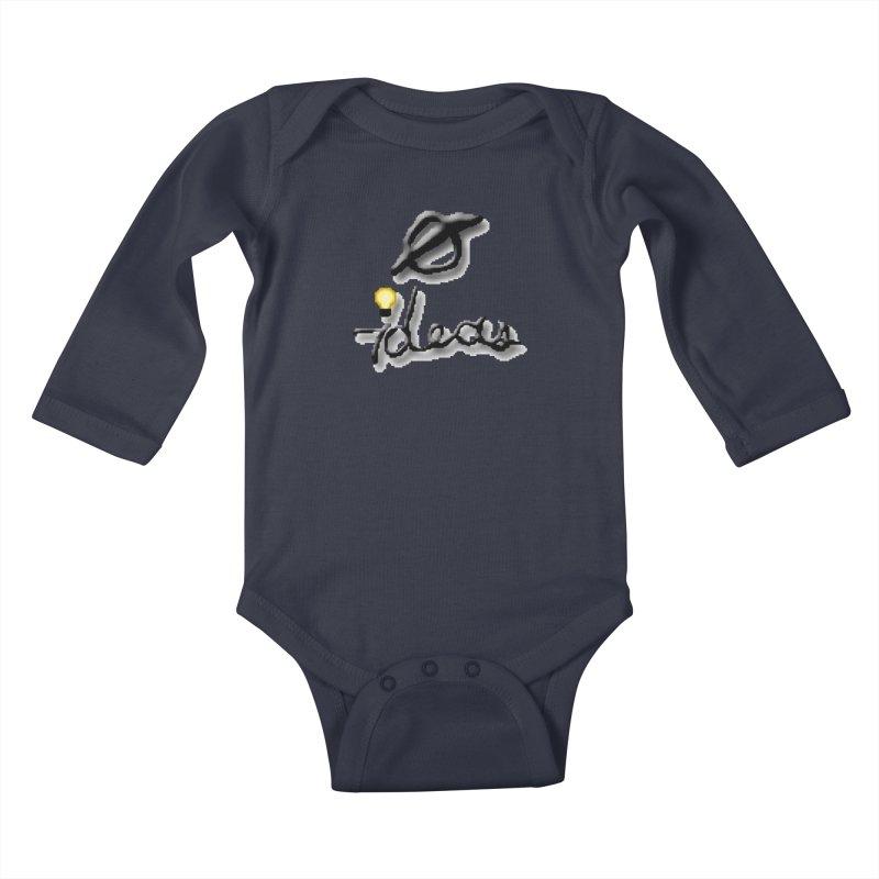 0 Ideas Logo Kids Baby Longsleeve Bodysuit by 0 Ideas Studios