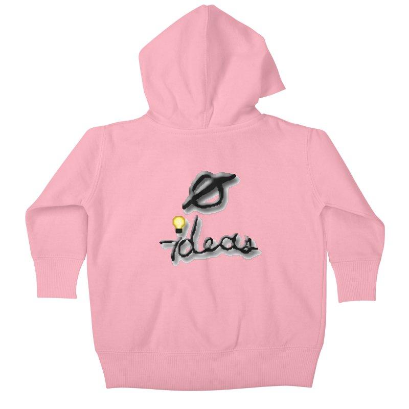 0 Ideas Logo Kids Baby Zip-Up Hoody by 0 Ideas Studios