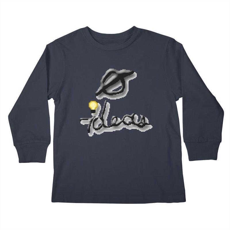 0 Ideas Logo Kids Longsleeve T-Shirt by 0 Ideas Studios