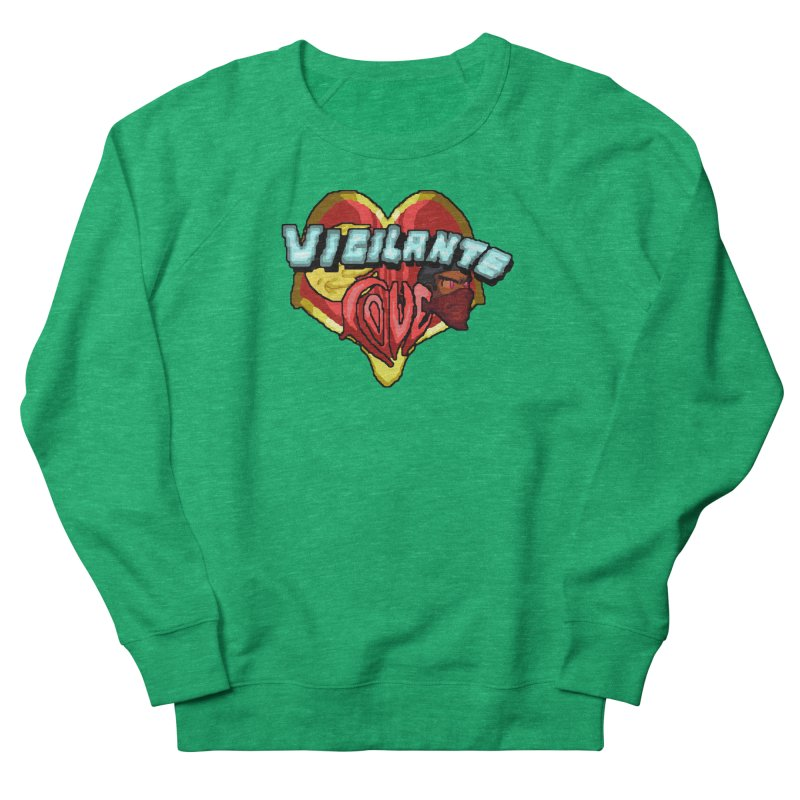 Vigilante Love (pixel variant) Women's Sweatshirt by 0 Ideas Studios