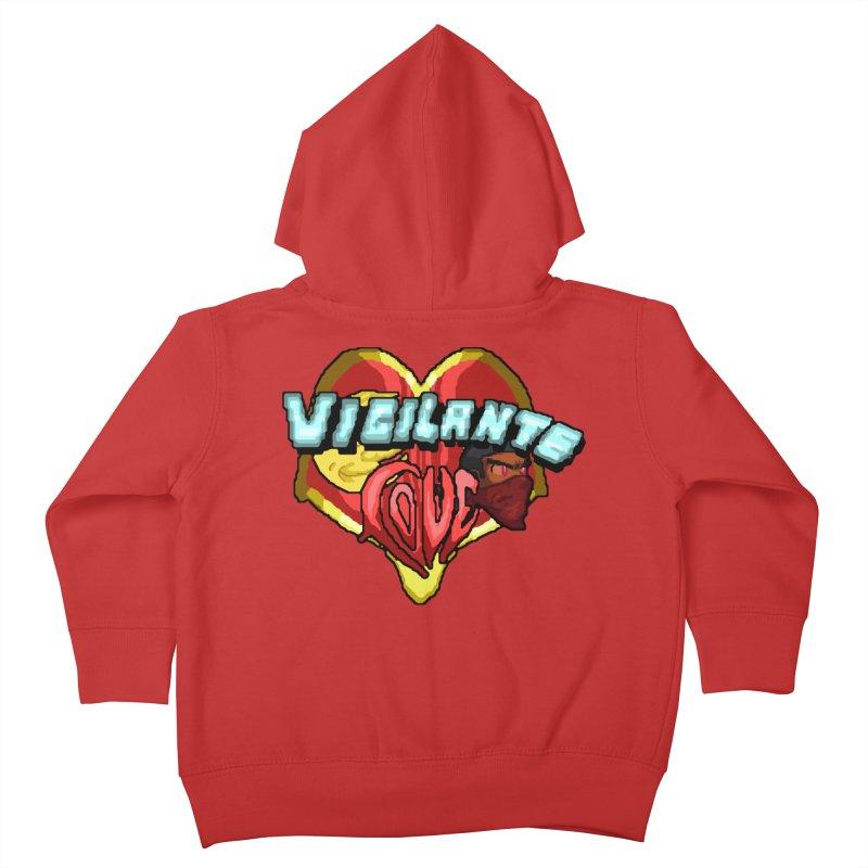Vigilante Love (pixel variant) Kids Toddler Zip-Up Hoody by 0 Ideas Studios