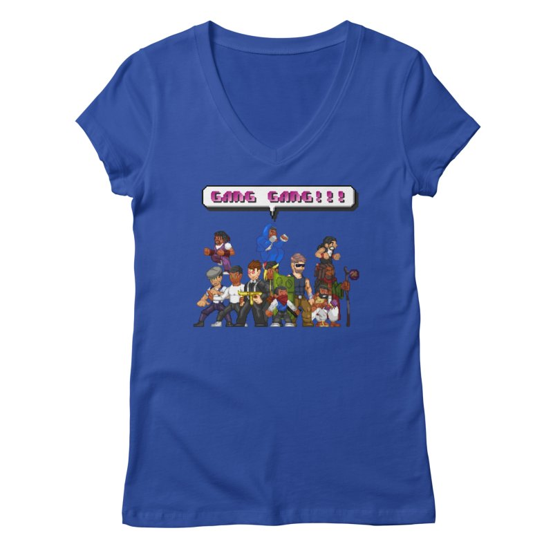 Gang Gang!! Women's V-Neck by 0 Ideas Studios