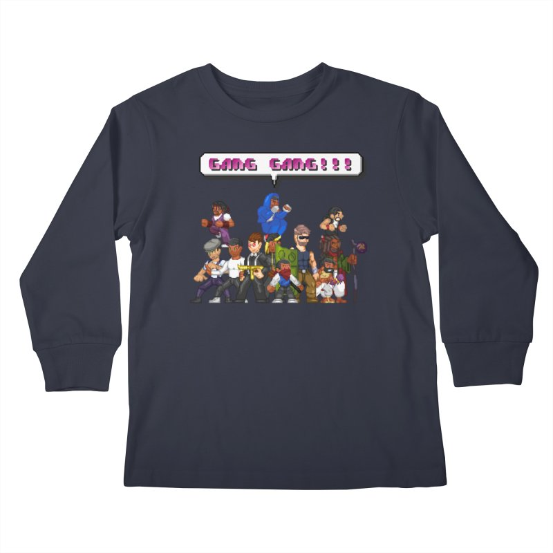 Gang Gang!! Kids Longsleeve T-Shirt by 0 Ideas Studios