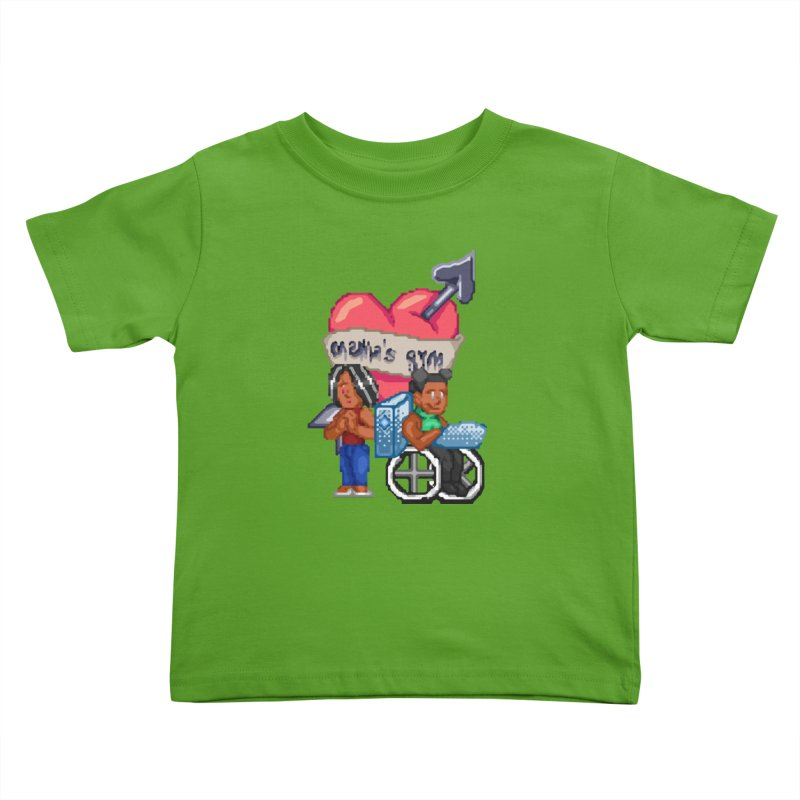 MAMA'S GYM Kids Toddler T-Shirt by 0 Ideas Studios