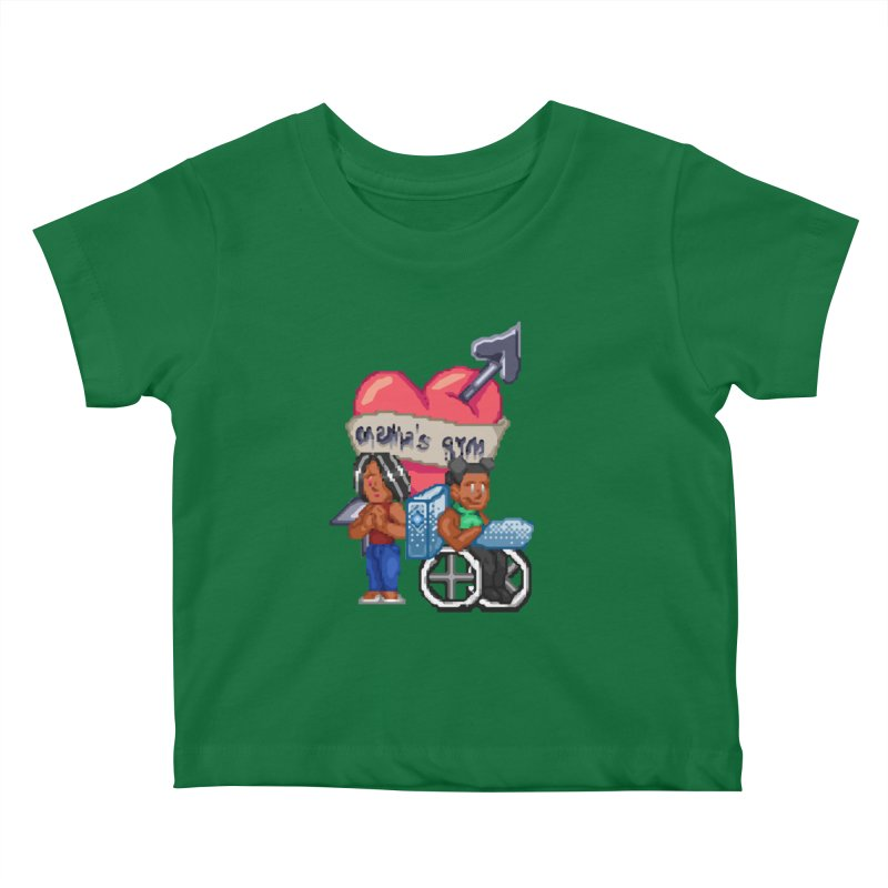 MAMA'S GYM Kids Baby T-Shirt by 0 Ideas Studios