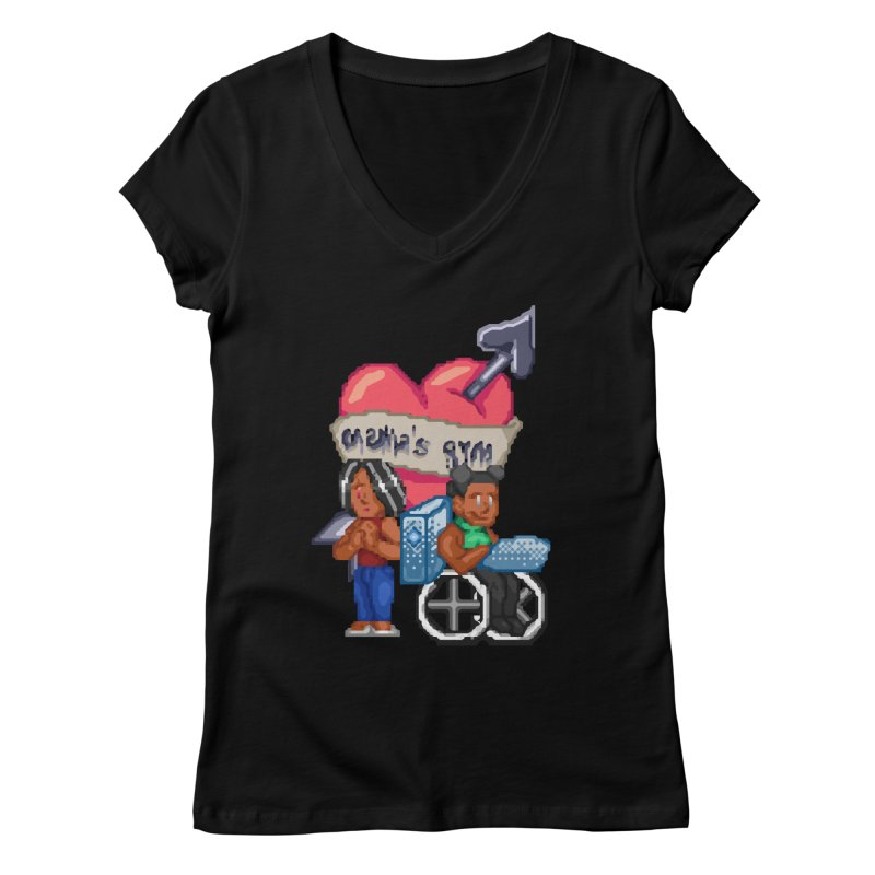 MAMA'S GYM Women's V-Neck by 0 Ideas Studios