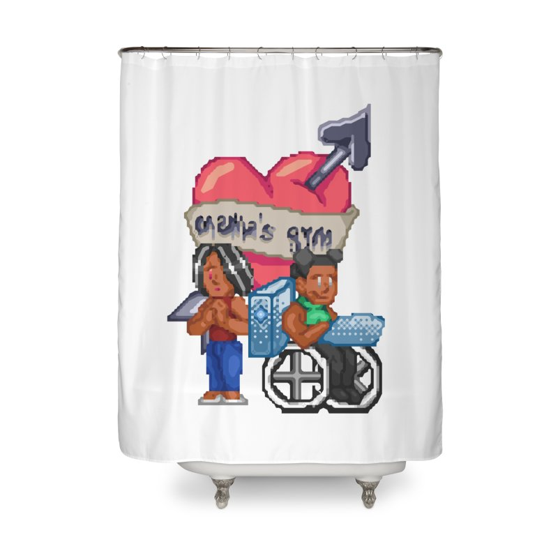 MAMA'S GYM Home Shower Curtain by 0 Ideas Studios