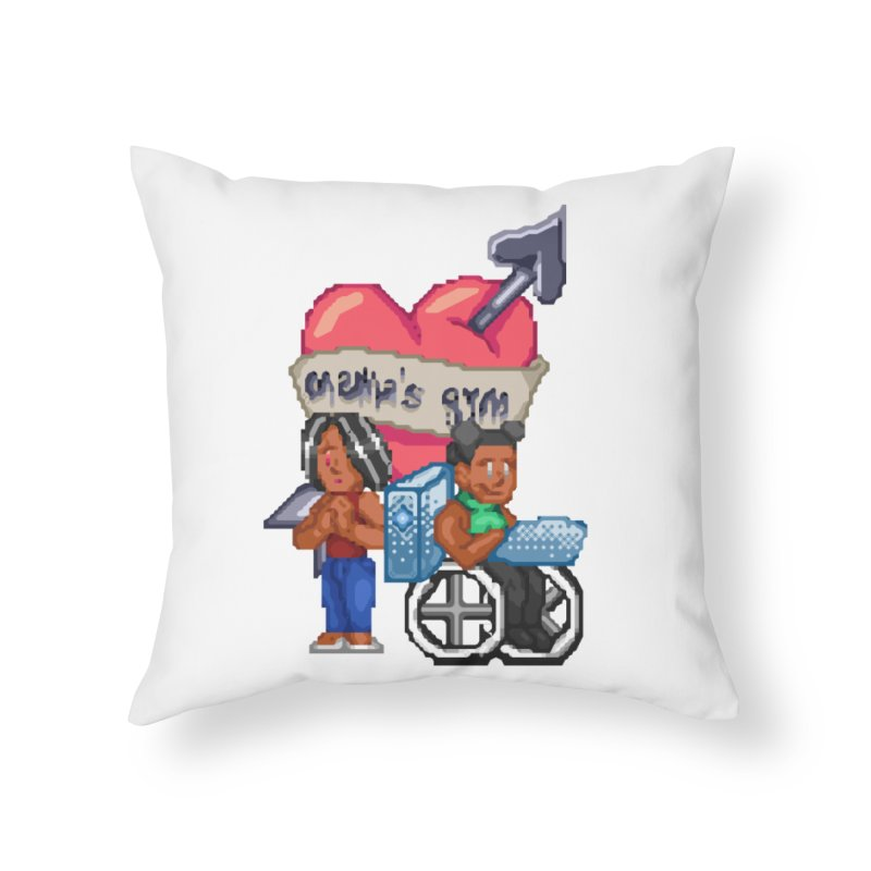 MAMA'S GYM Home Throw Pillow by 0 Ideas Studios