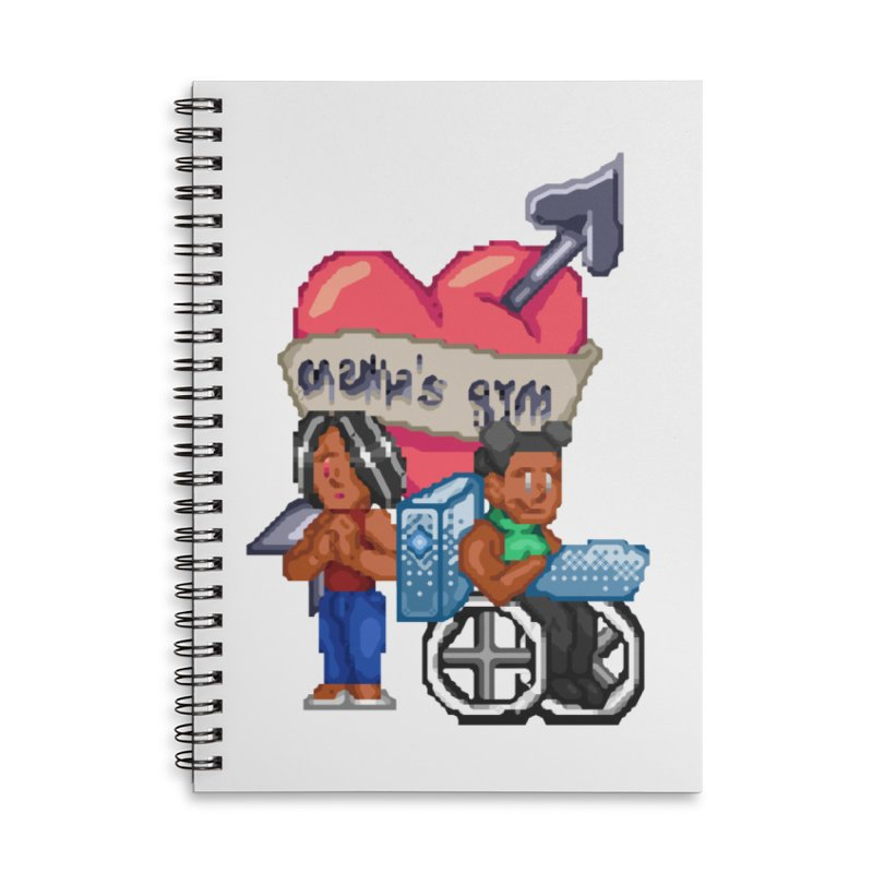 MAMA'S GYM Accessories Notebook by 0 Ideas Studios