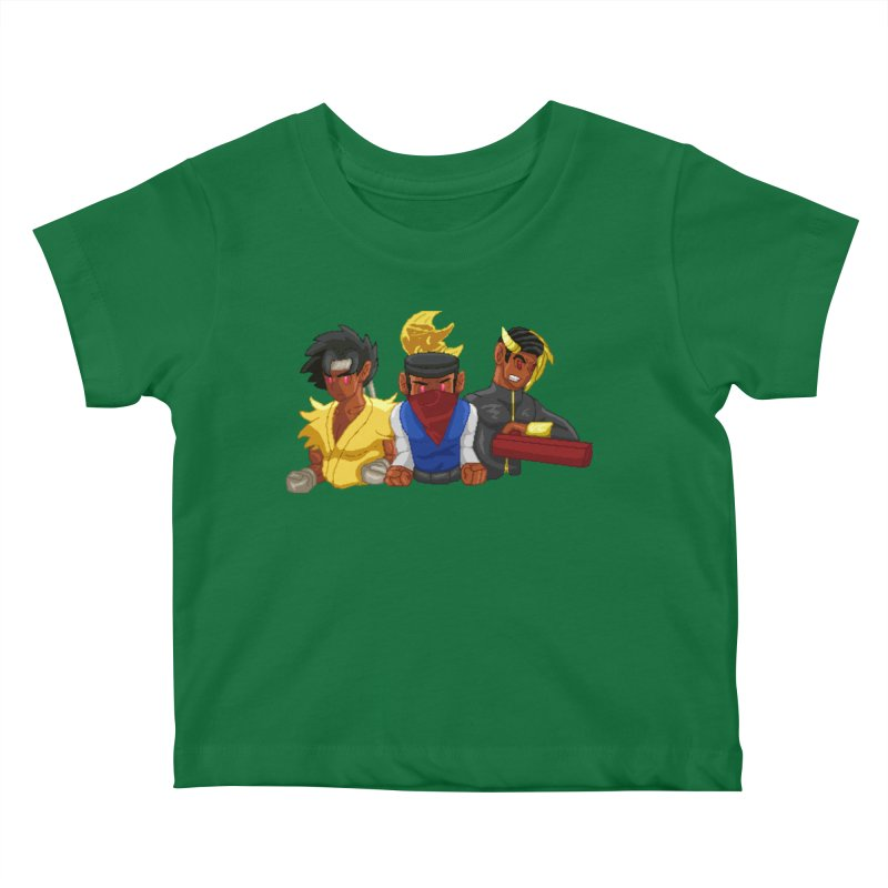 THE DAD, THE DIVINATION AND THE DRAGON SPIRIT Kids Baby T-Shirt by 0 Ideas Studios