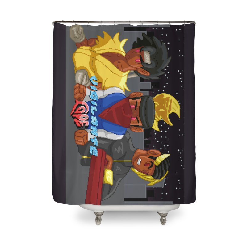 THE DAD, THE DIVINATION AND THE DRAGON SPIRIT Home Shower Curtain by 0 Ideas Studios