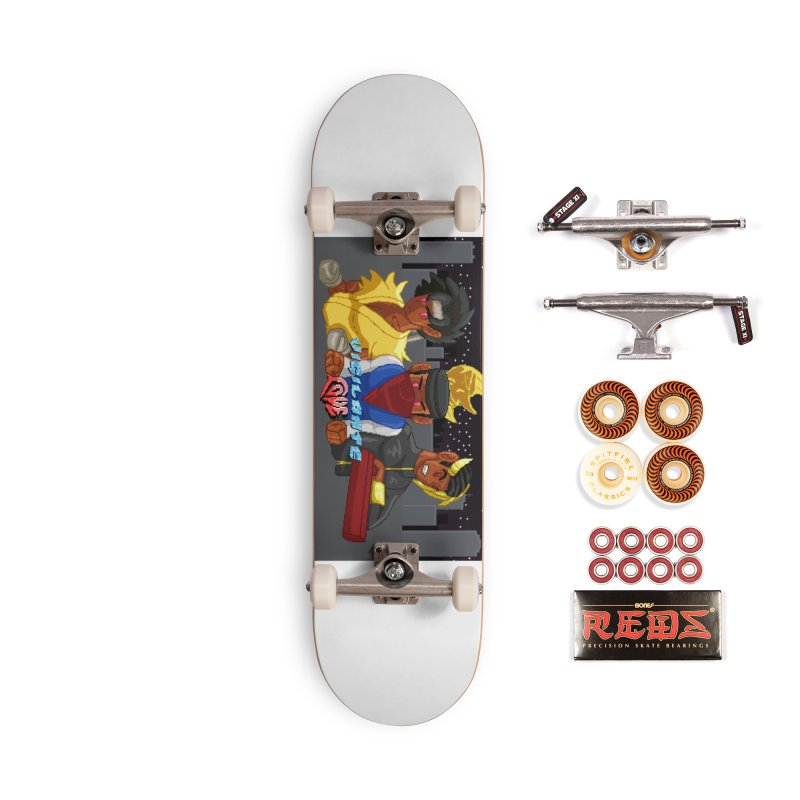 THE DAD, THE DIVINATION AND THE DRAGON SPIRIT Accessories Skateboard by 0 Ideas Studios