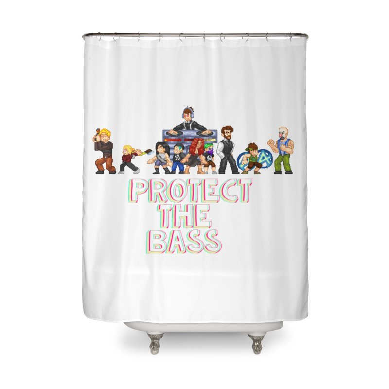 PROTECT THE BASS Home Shower Curtain by 0 Ideas Studios
