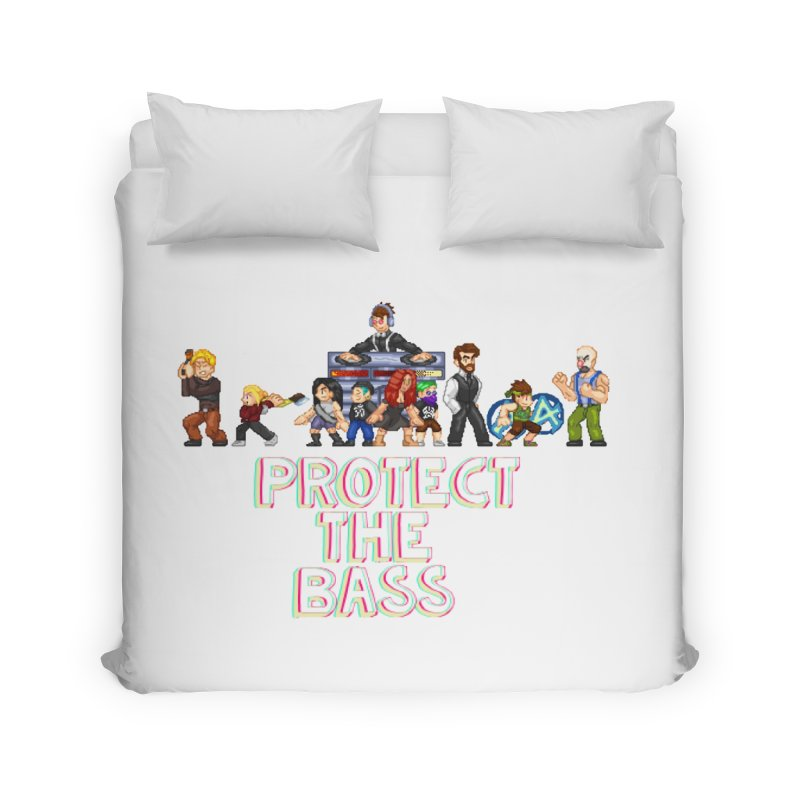 PROTECT THE BASS Home Duvet by 0 Ideas Studios
