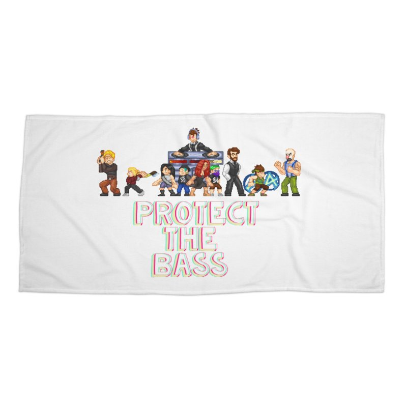 PROTECT THE BASS Accessories Beach Towel by 0 Ideas Studios