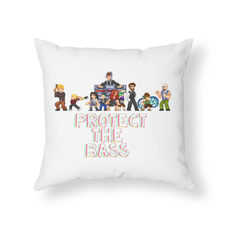 PROTECT THE BASS Home Throw Pillow by 0 Ideas Studios
