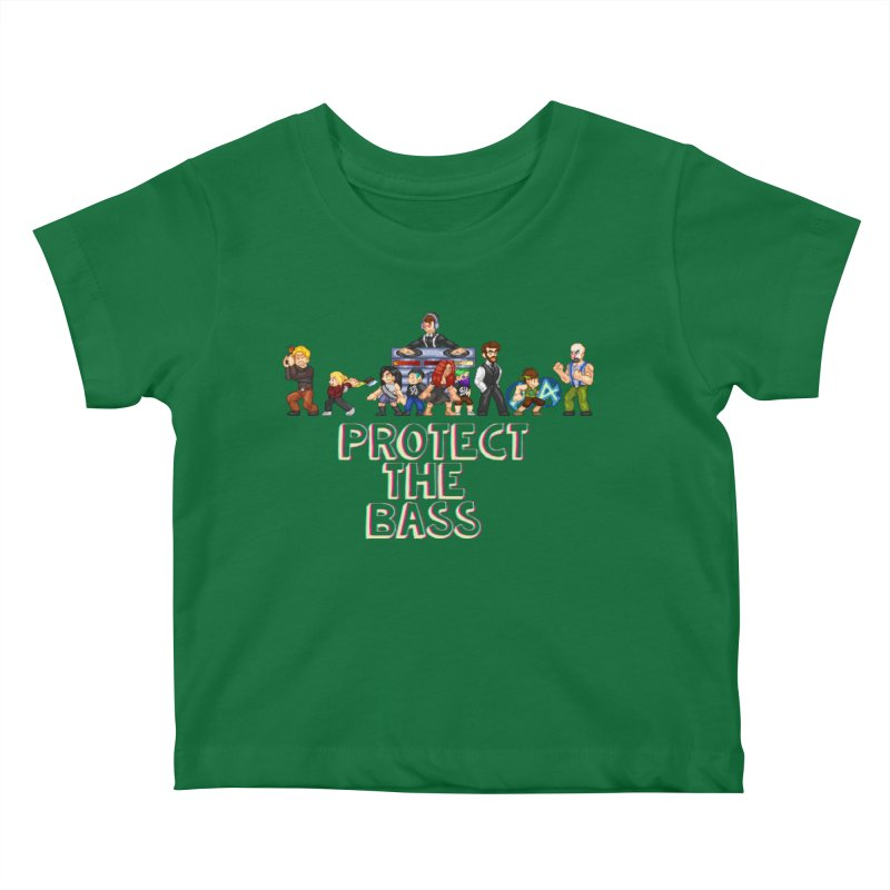 PROTECT THE BASS Kids Baby T-Shirt by 0 Ideas Studios