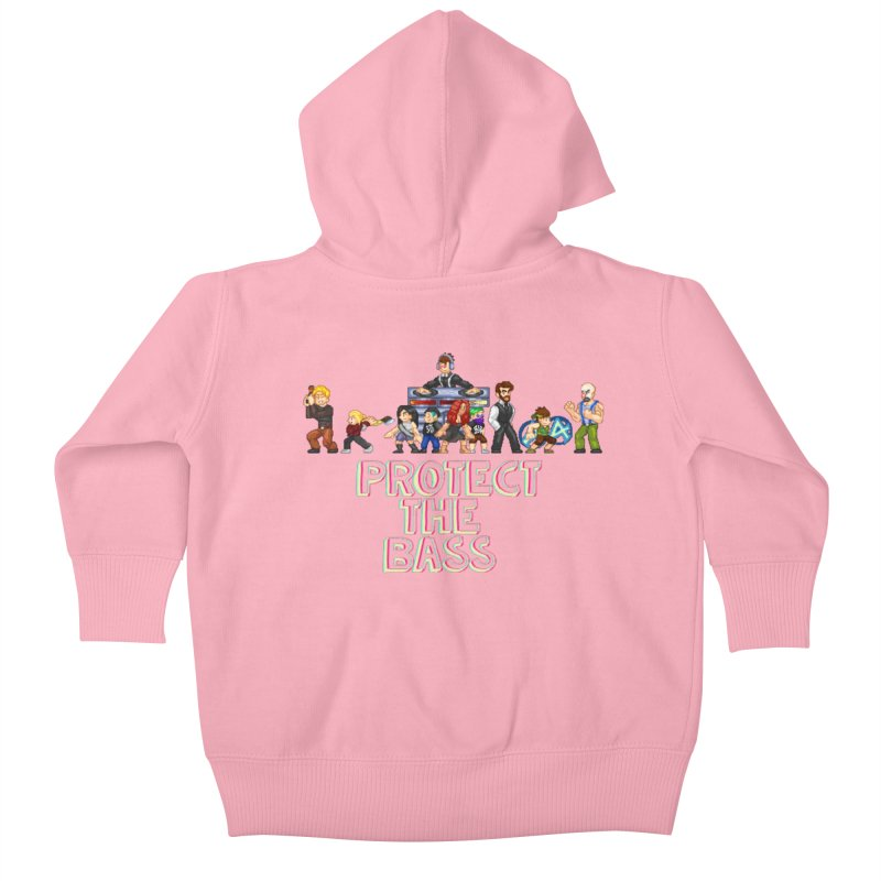 PROTECT THE BASS Kids Baby Zip-Up Hoody by 0 Ideas Studios