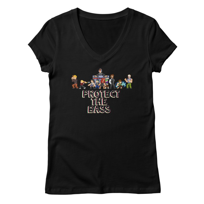 PROTECT THE BASS Women's V-Neck by 0 Ideas Studios