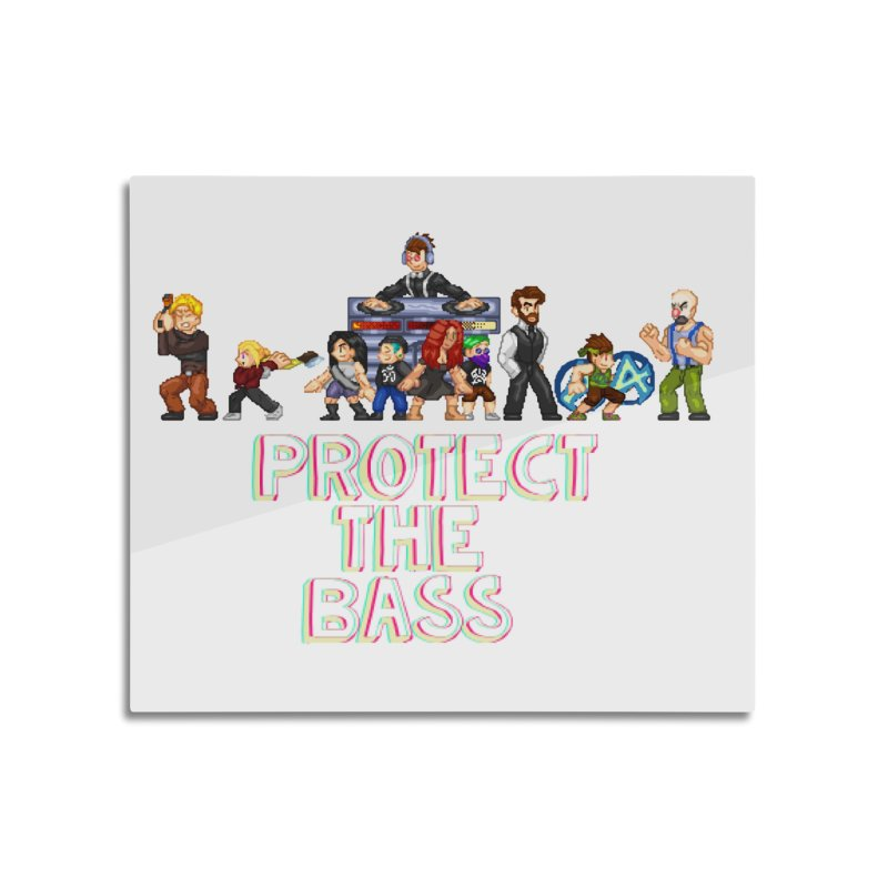 PROTECT THE BASS Home Mounted Aluminum Print by 0 Ideas Studios