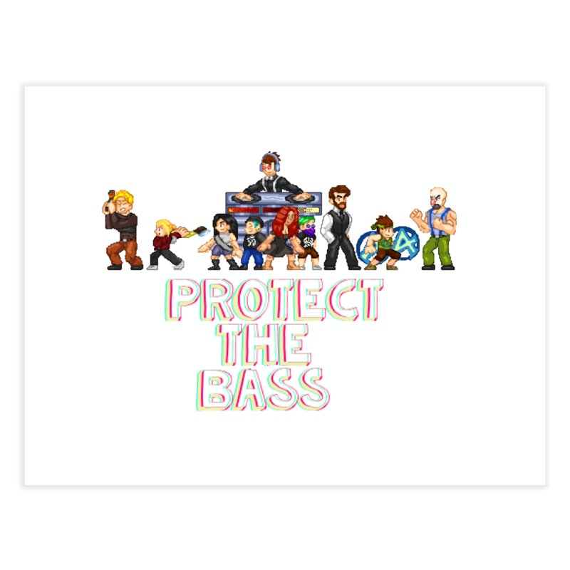 PROTECT THE BASS Home Fine Art Print by 0 Ideas Studios