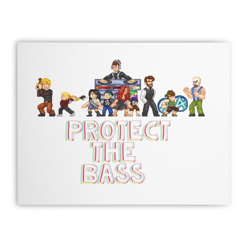 PROTECT THE BASS Home Stretched Canvas by 0 Ideas Studios