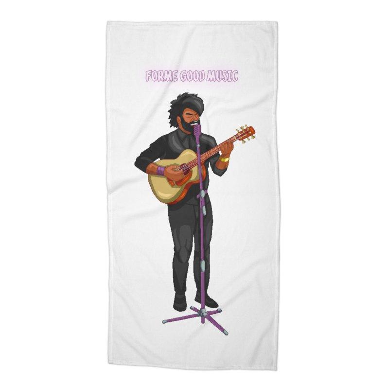 FORME GOOD MUSIC Accessories Beach Towel by 0 Ideas Studios