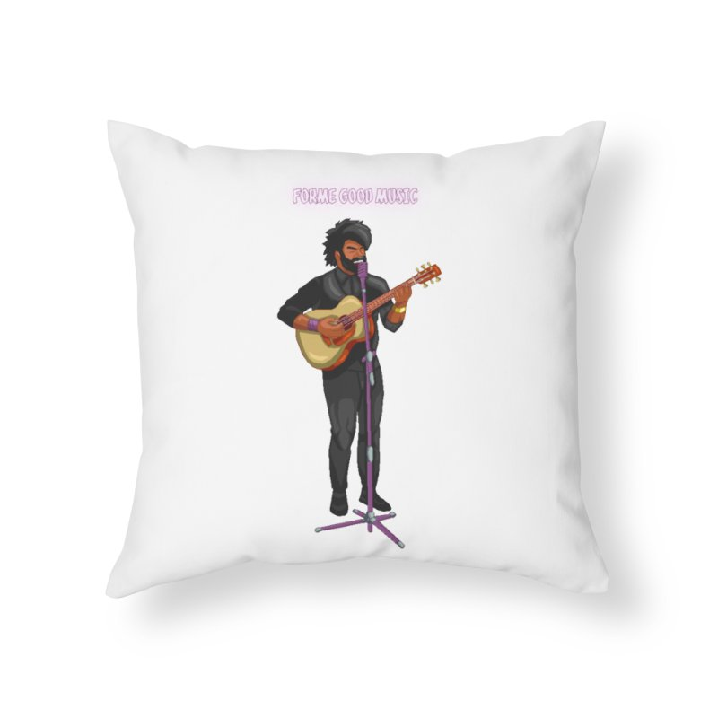 FORME GOOD MUSIC Home Throw Pillow by 0 Ideas Studios