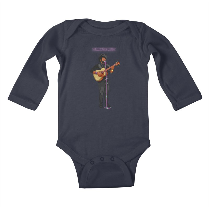 FORME GOOD MUSIC Kids Baby Longsleeve Bodysuit by 0 Ideas Studios