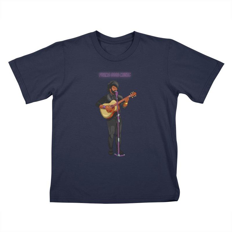 FORME GOOD MUSIC Kids T-Shirt by 0 Ideas Studios