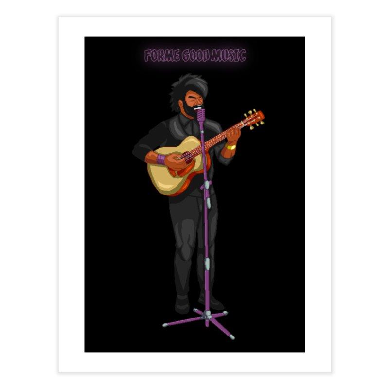 FORME GOOD MUSIC Home Fine Art Print by 0 Ideas Studios