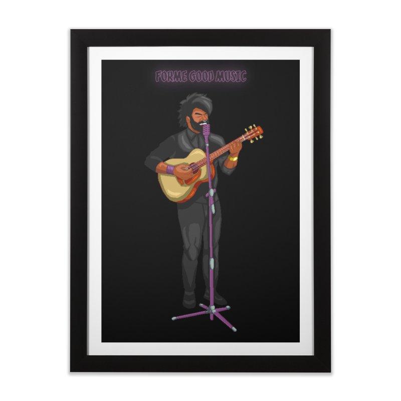 FORME GOOD MUSIC Home Framed Fine Art Print by 0 Ideas Studios