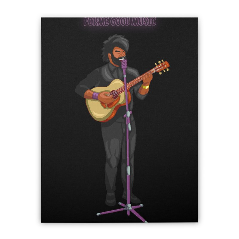 FORME GOOD MUSIC Home Stretched Canvas by 0 Ideas Studios