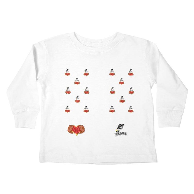 Love 0 Ideas Kids Toddler Longsleeve T-Shirt by 0 Ideas Studios