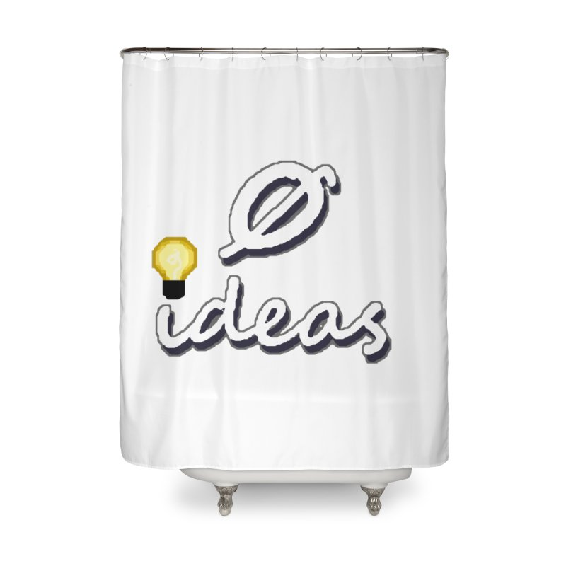 0 Ideas Alt Logo Home Shower Curtain by 0 Ideas Studios