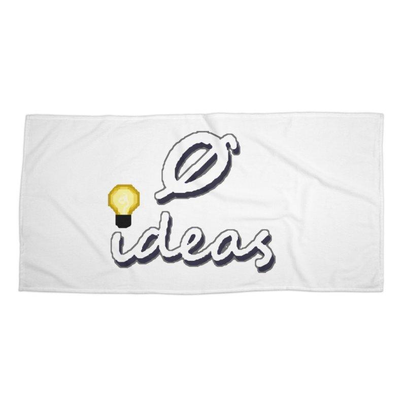 0 Ideas Alt Logo Accessories Beach Towel by 0 Ideas Studios