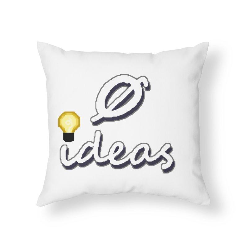 0 Ideas Alt Logo Home Throw Pillow by 0 Ideas Studios