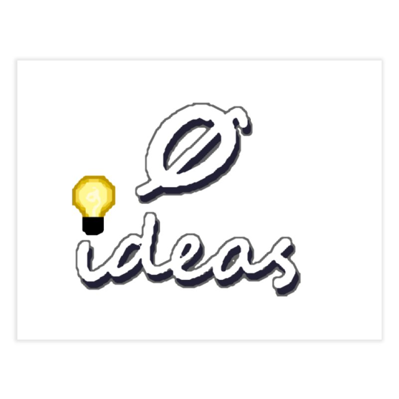 0 Ideas Alt Logo Home Fine Art Print by 0 Ideas Studios