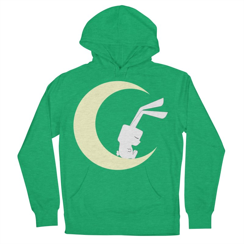 On the moon Women's Pullover Hoody by 1001 bunnies