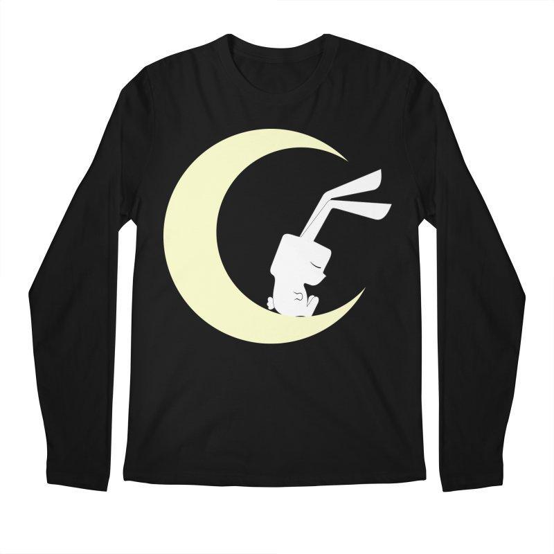 On the moon Men's Longsleeve T-Shirt by 1001 bunnies