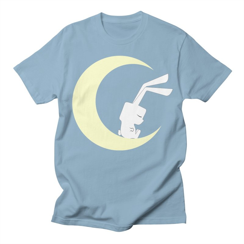 On the moon Men's T-Shirt by 1001 bunnies