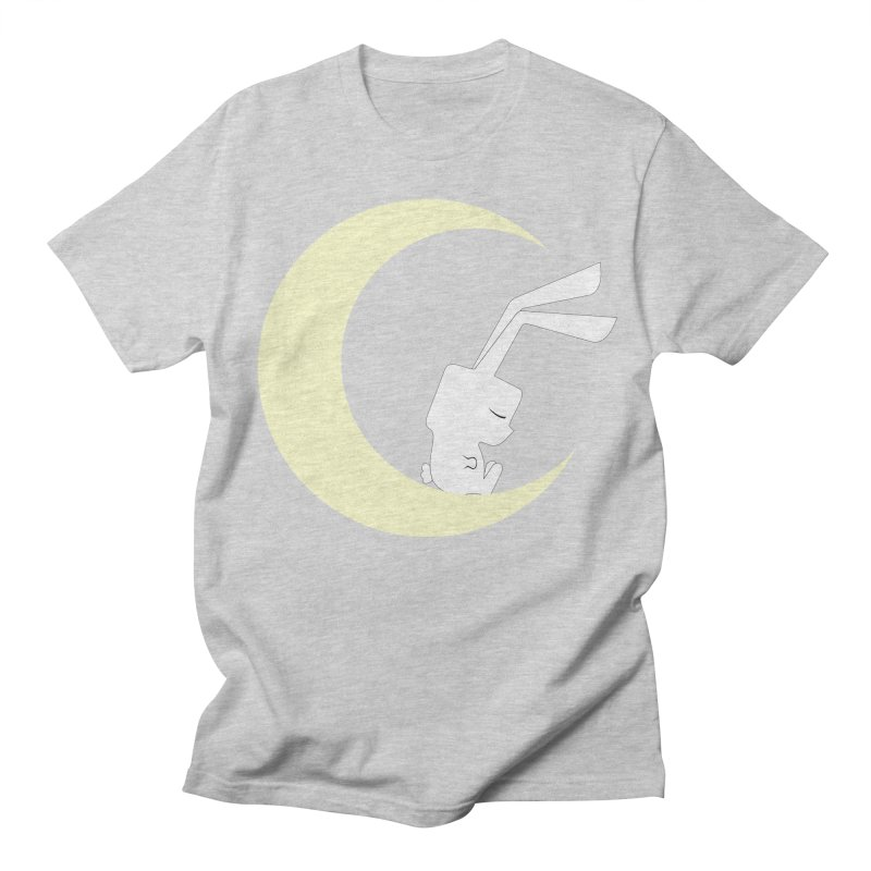 On the moon Women's Unisex T-Shirt by 1001 bunnies