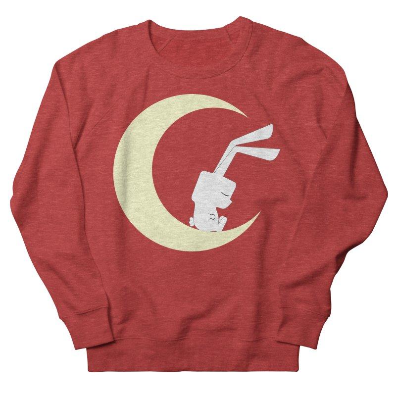 On the moon Women's Sweatshirt by 1001 bunnies