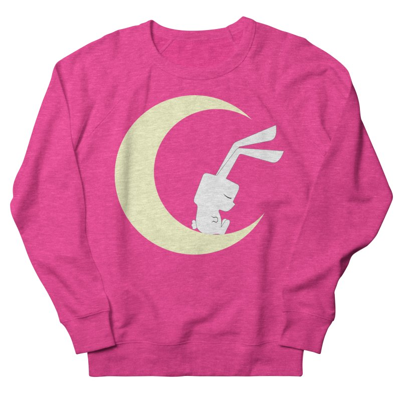 On the moon Women's Sweatshirt by 1001 bunnies
