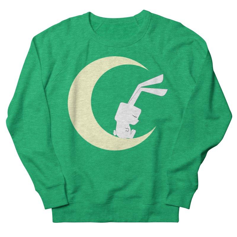 On the moon Men's Sweatshirt by 1001 bunnies