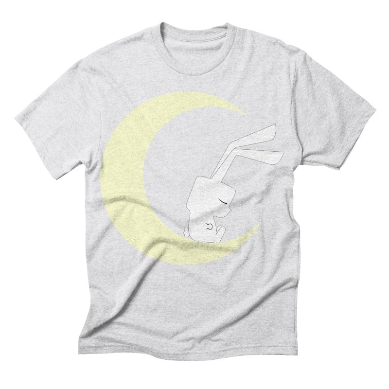 On the moon Men's Triblend T-shirt by 1001 bunnies