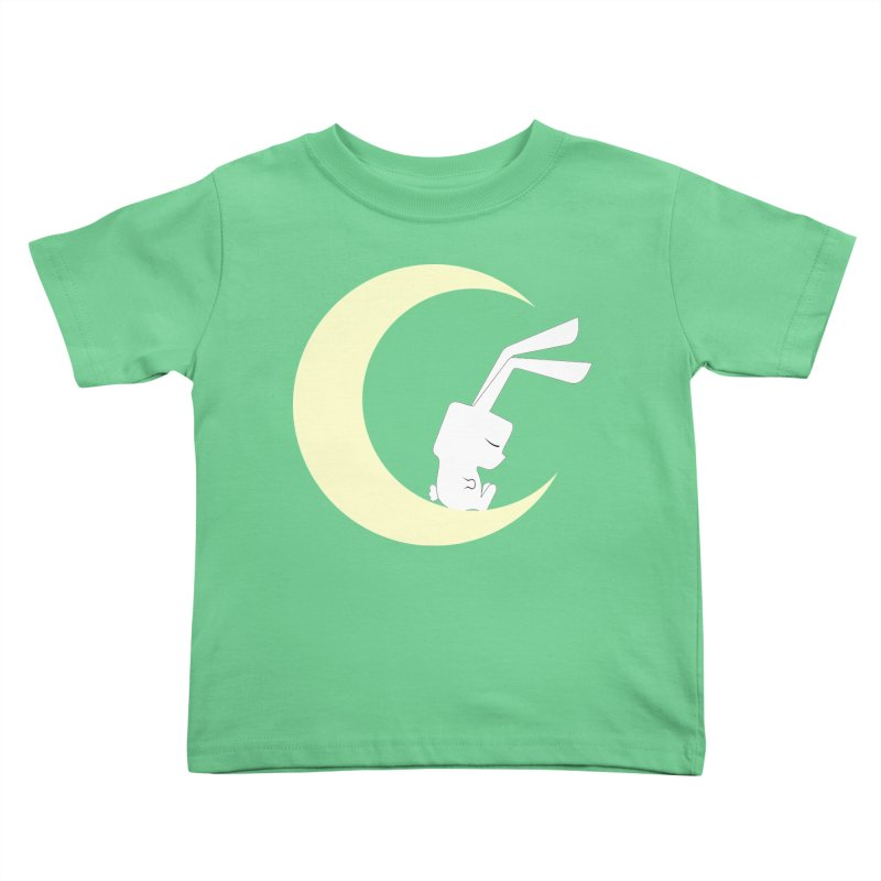 On the moon Kids Toddler T-Shirt by 1001 bunnies